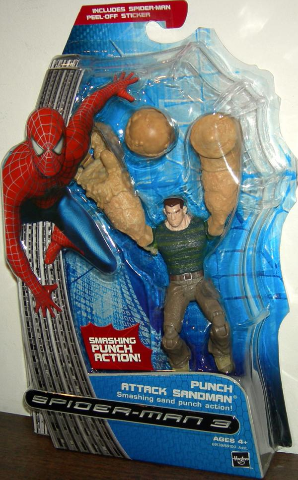 Punch Attack Sandman Figure Spider-Man 3 Smashing Sand Punch Action