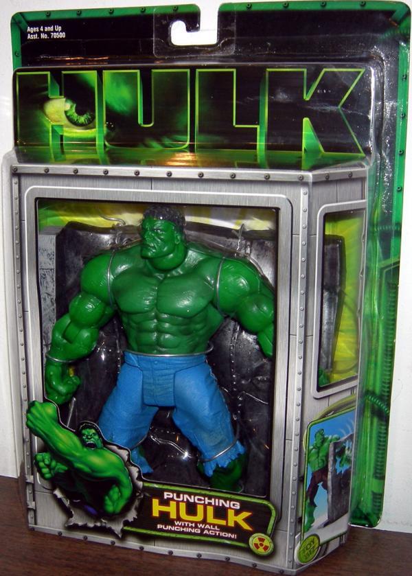 Punching Hulk Figure Wall Punching Action Movie Toy Biz