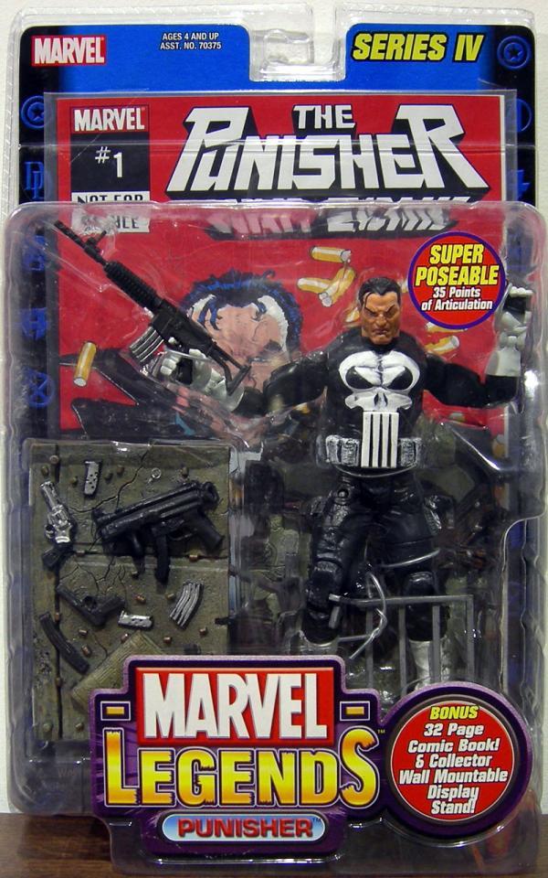 Punisher Action Figure Marvel Legends Series IV Toy Biz