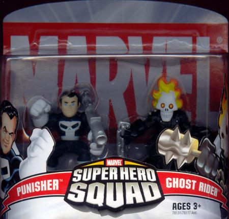 Punisher Ghost Rider Figures Super Hero Squad