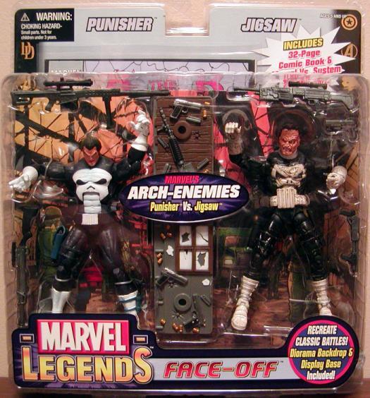 Punisher vs Jigsaw Marvel Legends