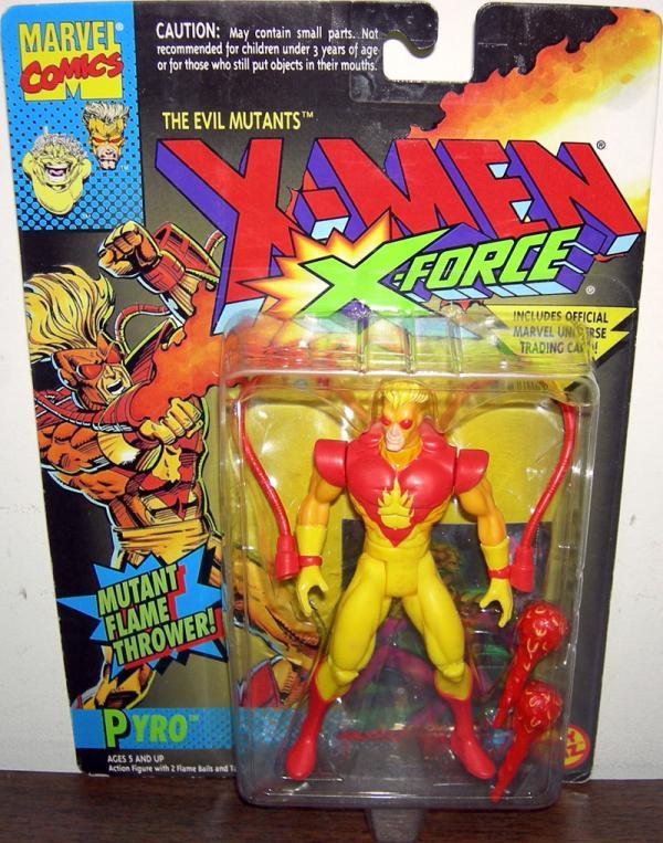 Pyro Figure Mutant Flame Thrower X-Men X-Force Toy Biz