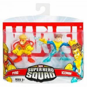 Pyro Iceman Super Hero Squad action figures
