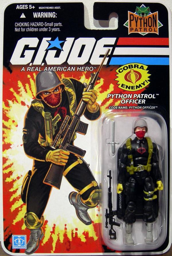 Python Patrol Officer Code Name- Python Officer action figure