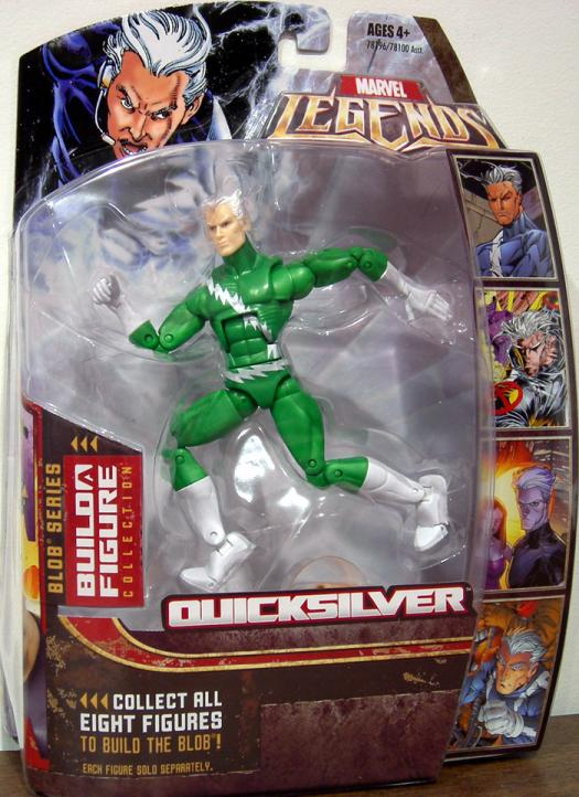 Quicksilver Action Figure Green Chase Variant Marvel Legends Blob Series