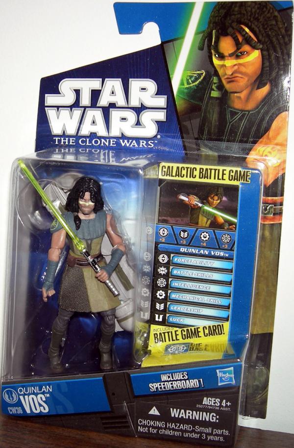 Quinlan Vos CW36 Clone Wars Action Figure Hasbro
