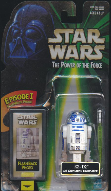 R2-D2 FlashBack Figure Lightsaber Right Side Star Wars
