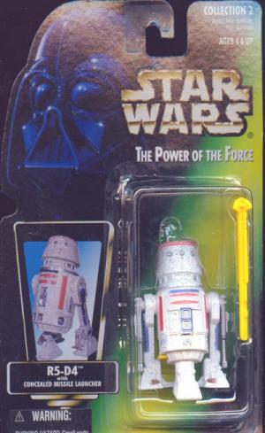 R5-D4 Green Card Straight Latch Star Wars action figure