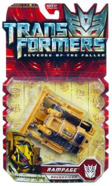 Rampage Figure Revenge Fallen Transformers Deluxe