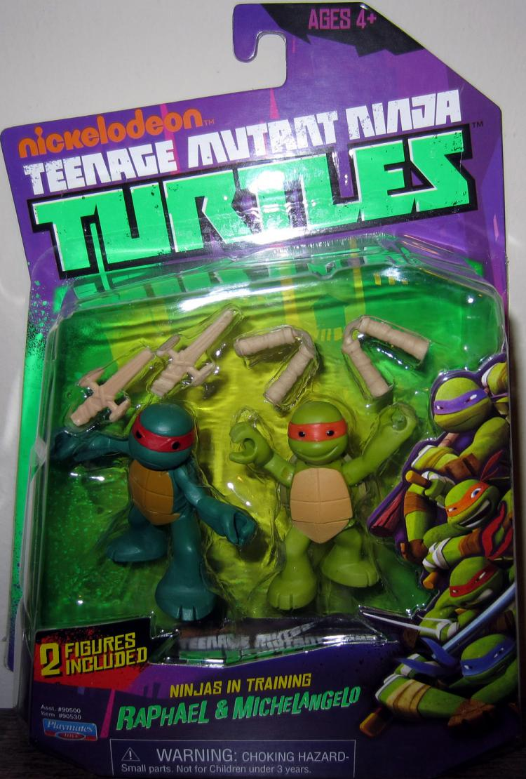 Raphael Michelangelo Ninjas Training Figures Nickelodeon TMNT