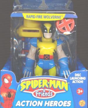 Rapid-Fire Wolverine Spider-Man Friends action figure