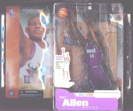 Ray Allen Figure Dark Uniform Milwaukee Bucks NBA