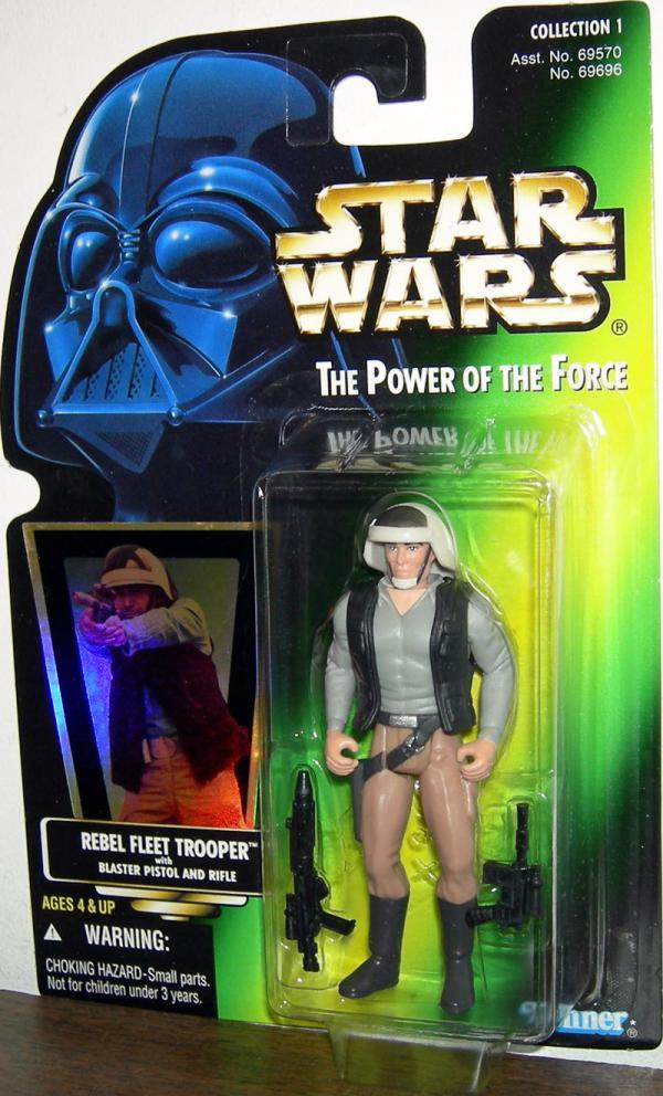 Rebel Fleet Trooper Green Card Star Wars action figure