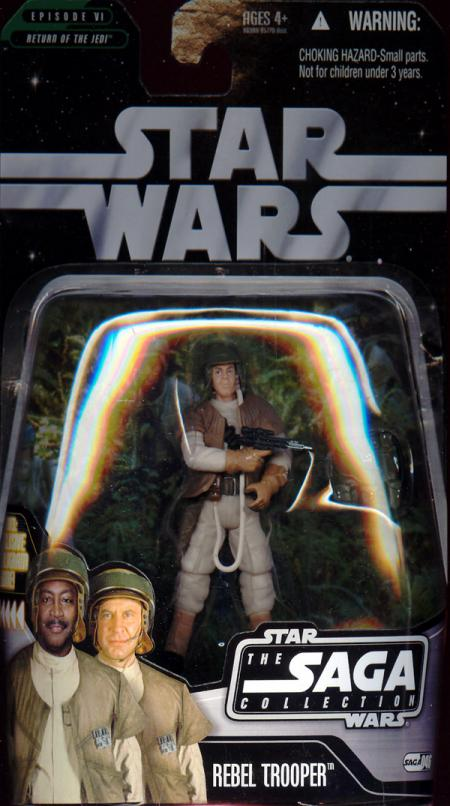 Rebel Trooper Figure Saga Collection 046 White Star Wars