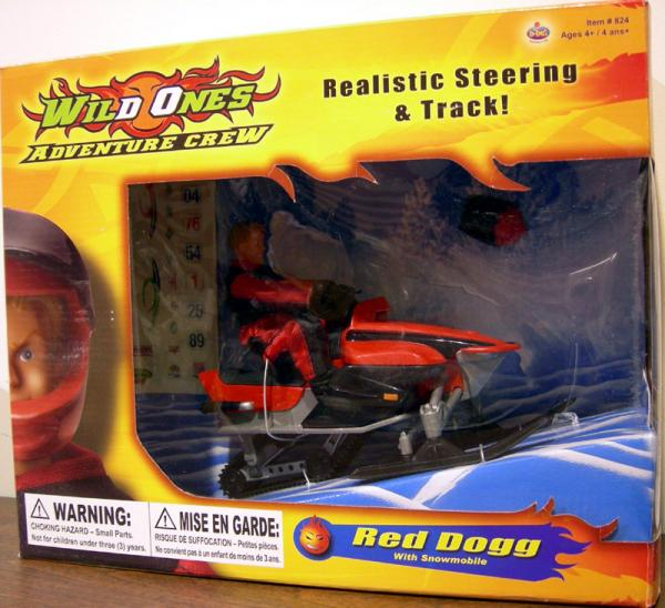 B-Bel Wild Ones Adventure Crew Red Dogg Snowmobile action figure
