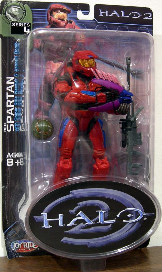 Red Spartan  Halo 2, series 4, blue stripes