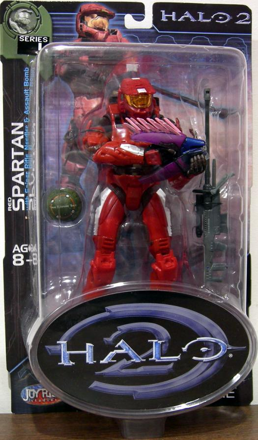 Red Spartan Halo 2, series 4, white stripes