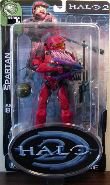 Red Spartan Halo 2, series 4, gray stripes