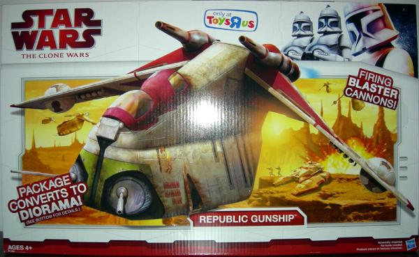 Republic Gunship Clone Wars, Toys R Us Exclusive