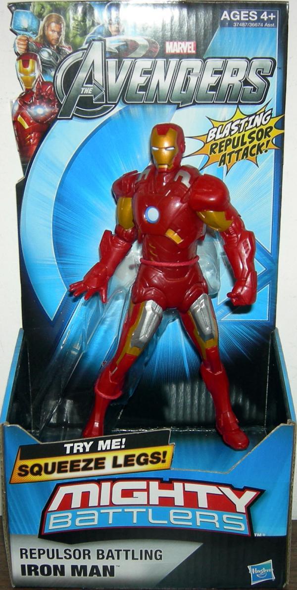 Repulsor Battling Iron Man Avengers, Mighty Battlers
