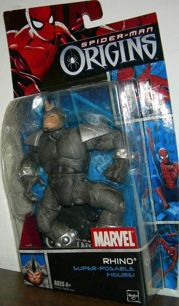 Rhino Spider-Man Origins Figure Super-Poseable