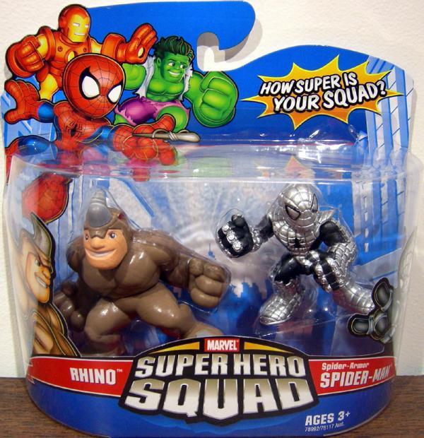 Rhino Spider-Armor Spider-Man Super Hero Squad