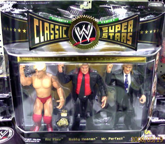 Ric Flair Bobby Heenan Mr Perfect Figures 3-Pack WWE Classic Super Stars