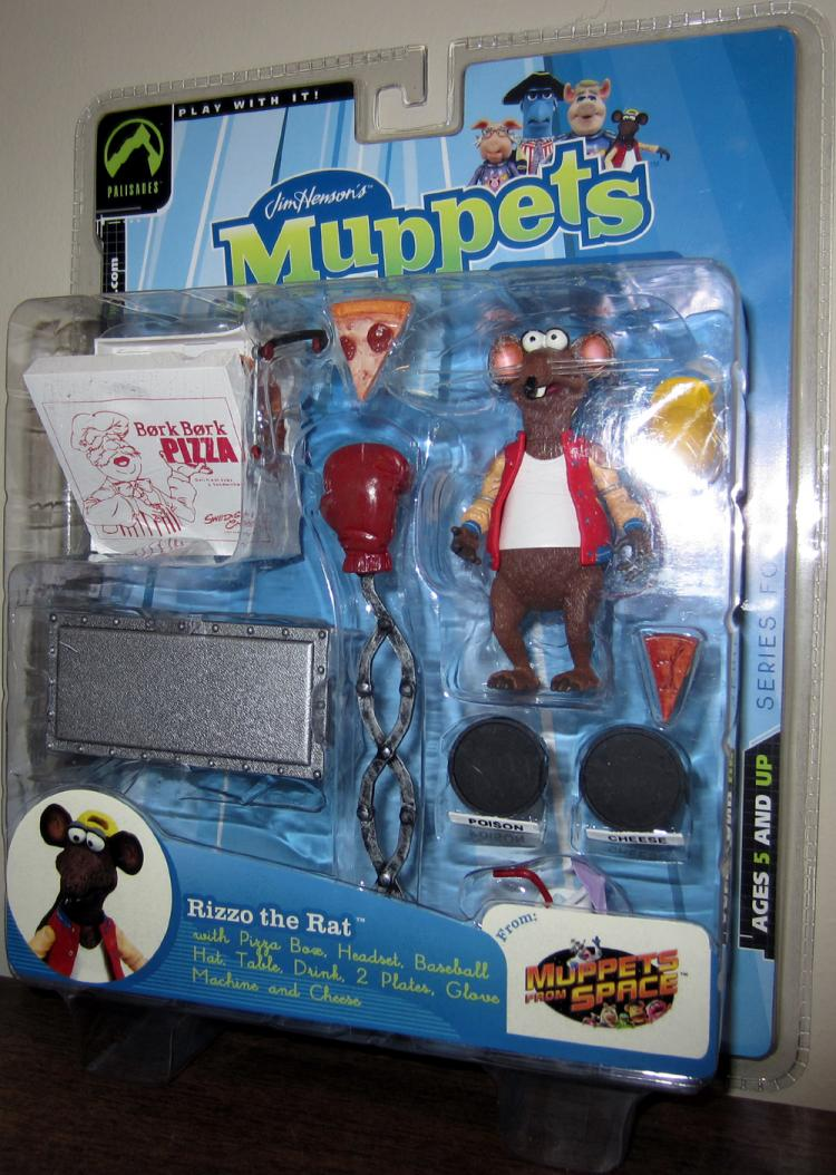 Rizzo Rat Figure Muppets Space Series Four Red Jacket