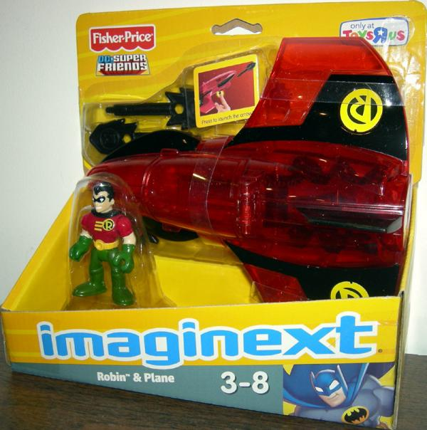 Robin and Plane Imaginext Vehicle DC Super Friends Fisher-Price
