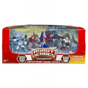 Transformers Robot Heroes Decepticon Sneak Attack action figures