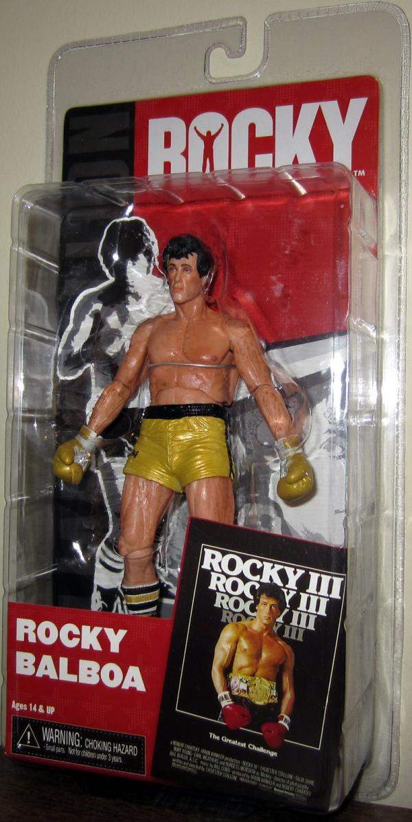 Rocky Balboa III Action Figure Pre-Fight Gold Trunks Neca