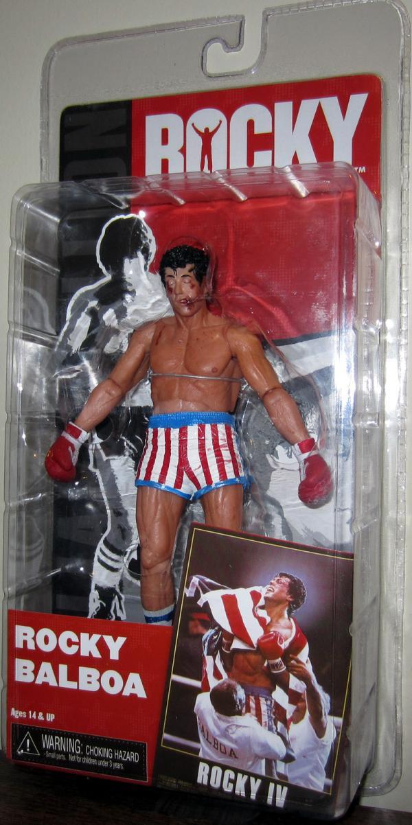Rocky Balboa Figure IV Post Fight Bloody Neca