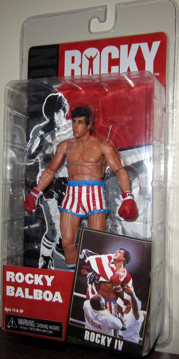 Rocky Balboa IV Action Figure Pre-Fight Apollo Creed Trunks Neca