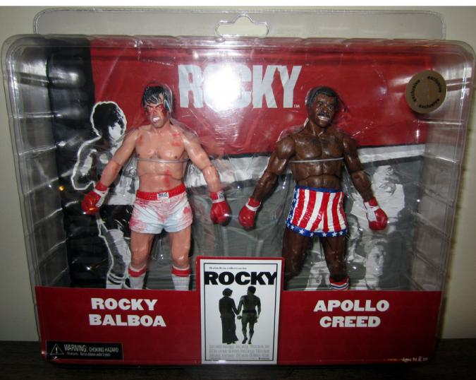 Rocky Balboa Apollo Creed Figures 2-Pack Post-Fight