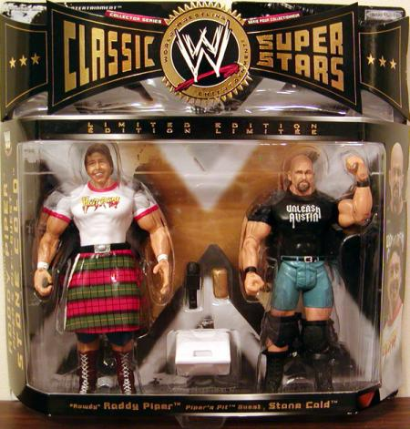 Rowdy Roddy Piper Pipers Pit Guest Stone Cold 2-Pack