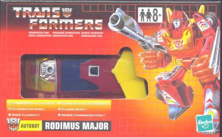 Rodimus Major Commemorative Series I, UK box