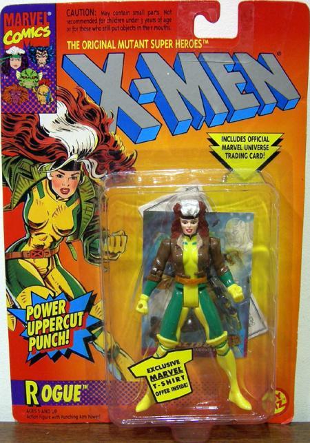 Rogue Figure Power Uppercut Punch X-Men Toy Biz