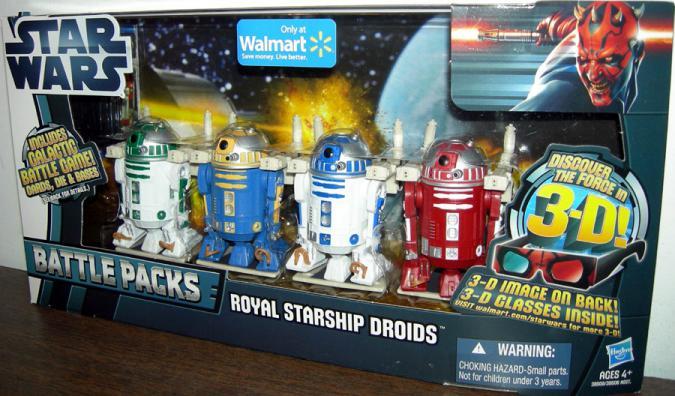 Royal Starship Droids 4-Pack Walmart Exclusive