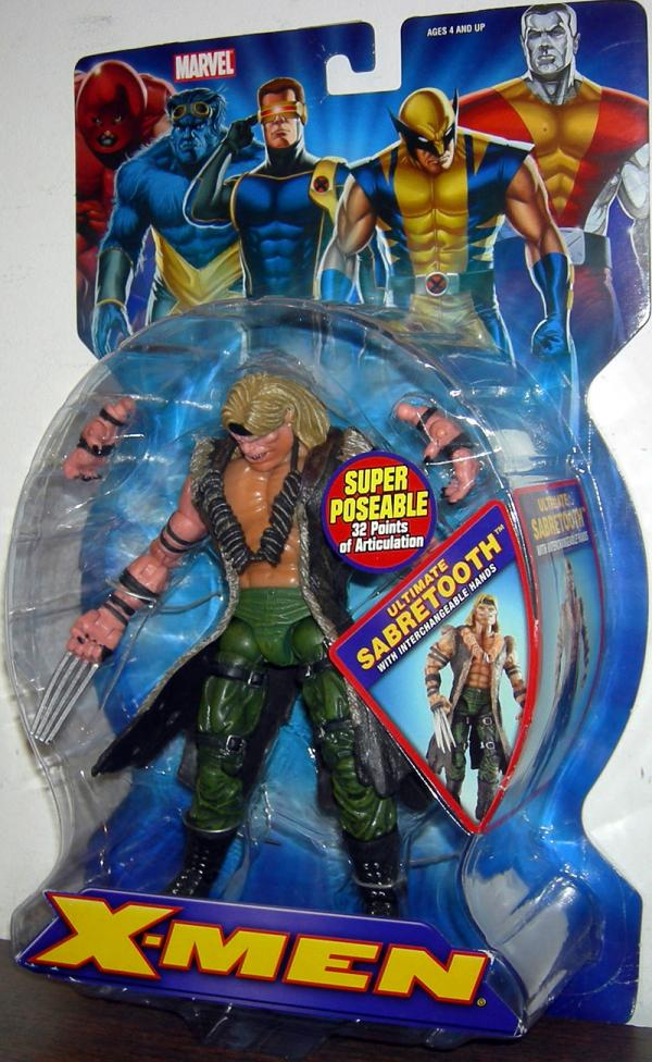 Ultimate Sabretooth Interchangeable Hands X-Men action figure