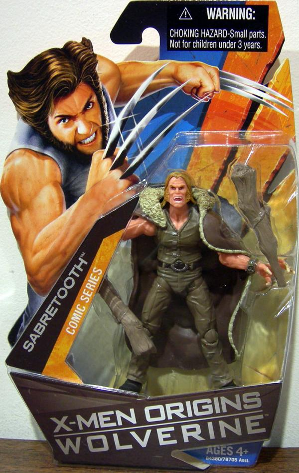 Sabretooth X-Men Origins Comic Series action figure
