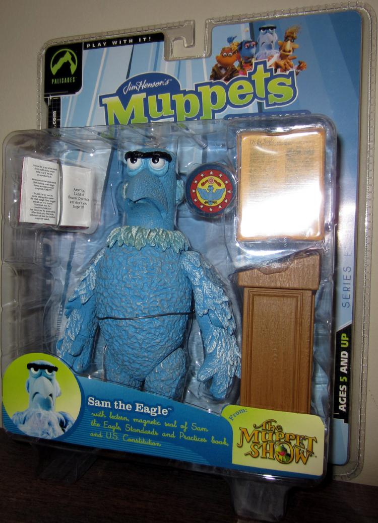 Sam the Eagle Action Figure Muppet Show Series Eight Regular Normal Eyes