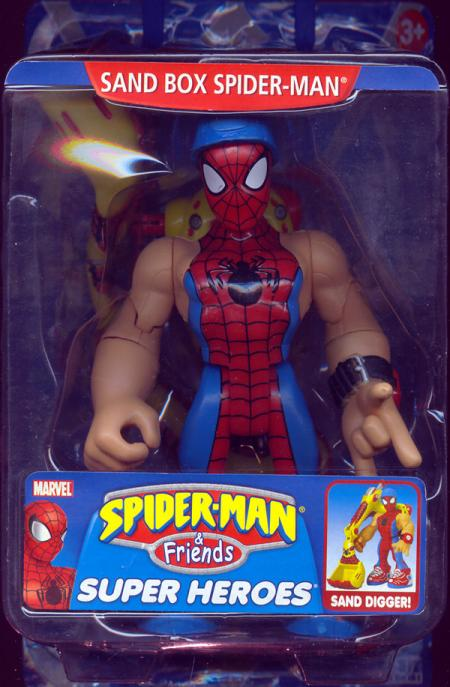 Sand Box Spider-Man Figure Friends Toy Biz