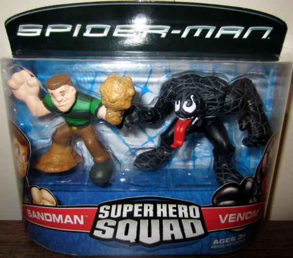 Sandman Venom Super Hero Squad Spider-Man action figures