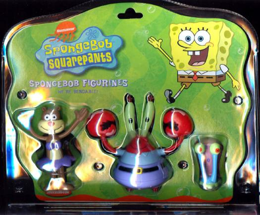Sandy Cheeks Mr Krabs Gary Action Figures Colorbok Kids