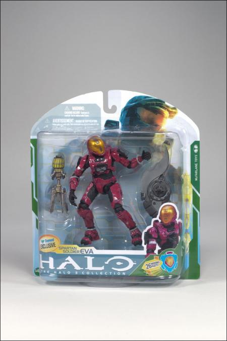 Spartan Soldier EVA Crimson Halo 3 Diamond Exclusive Action Figure