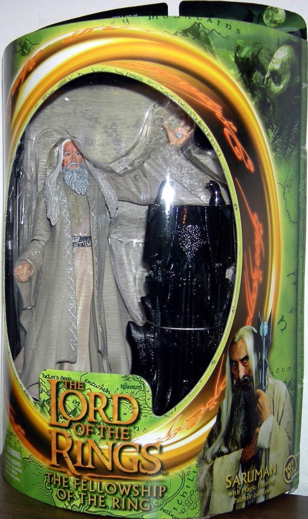Saruman Figure Lord Rings Fellowship Ring Toy Biz