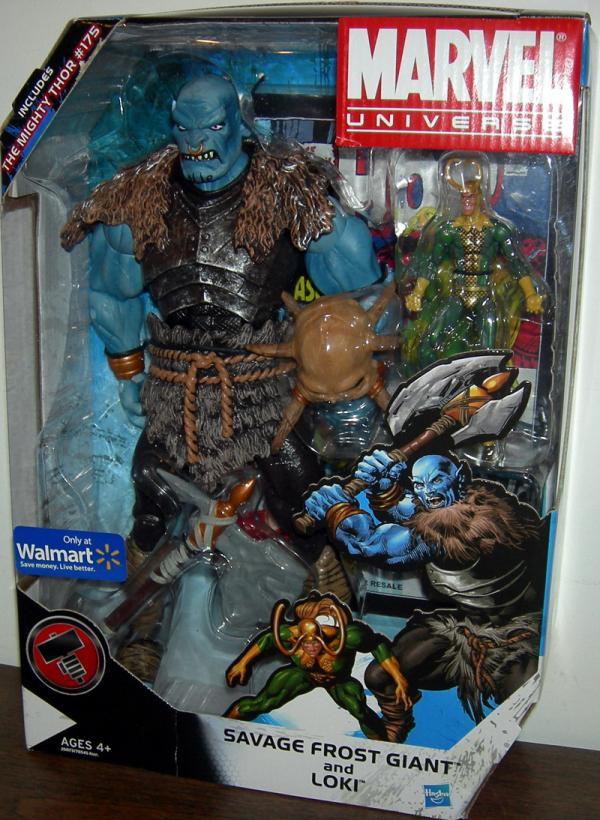 Savage Frost Giant Loki Marvel Universe Walmart Exclusive action figures