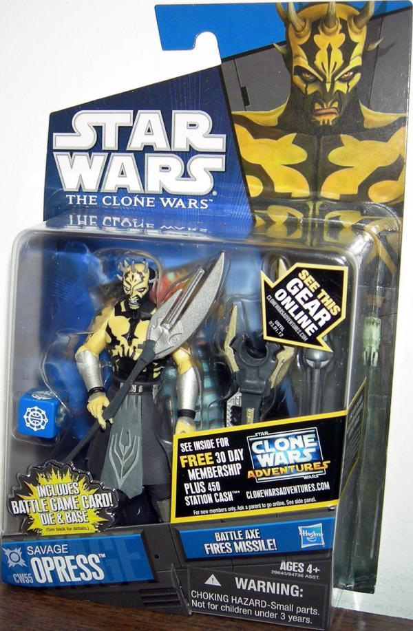 Savage Opress CW55 Star Wars Clone Wars action figure