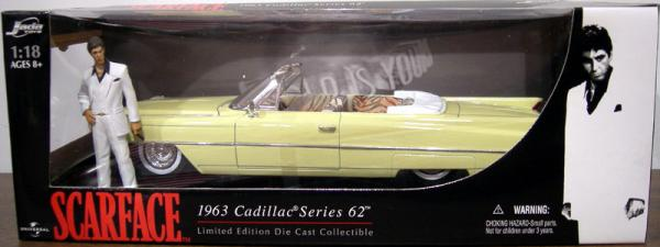 Scarface 1963 Cadillac Series 62 1-18 scale die-cast