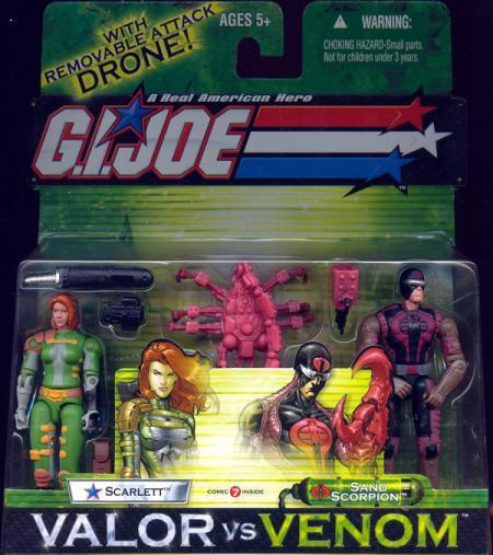 Scarlett vs Sand Scorpion Valor vs Venom action figures